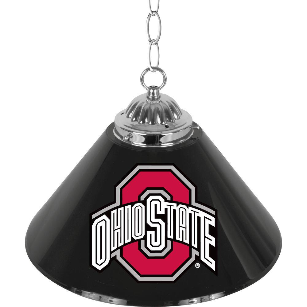 The Ohio State University Black 14 in. Single Shade Stainless Steel
