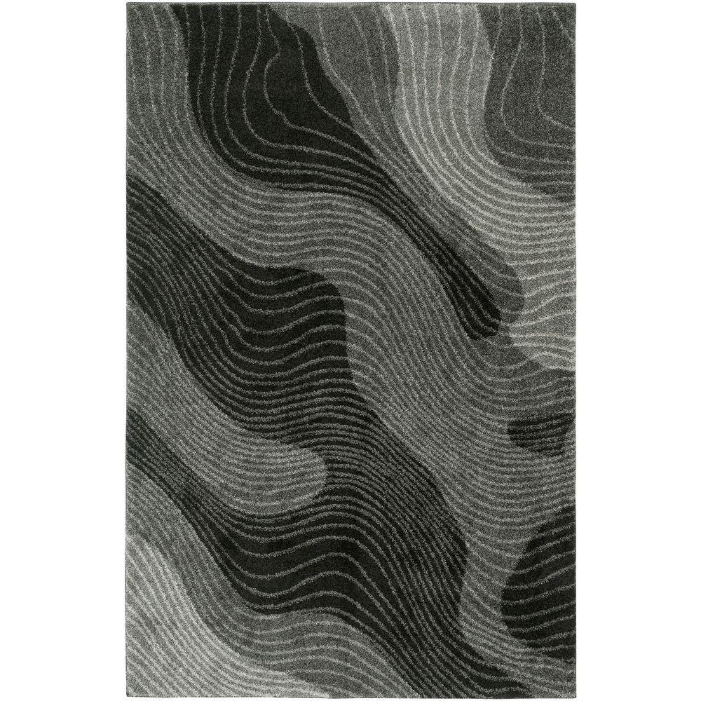 LR Resources Rock Dark Gray 8 ft. 2 in. x 10 ft. 6 in. Shaggy Indoor Area Rug
