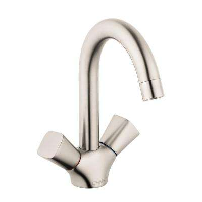 Logis 150 Single Hole 2-Handle Bathroom Faucet with Drain in Brushed Nickel