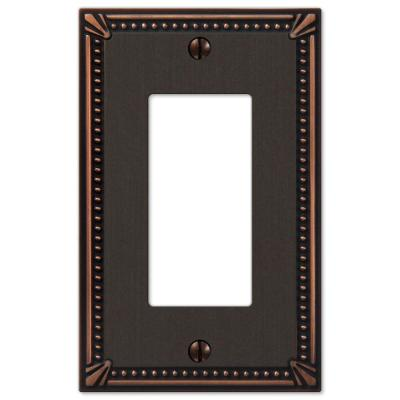 Imperial Bead 1 Gang Rocker Metal Wall Plate - Aged Bronze