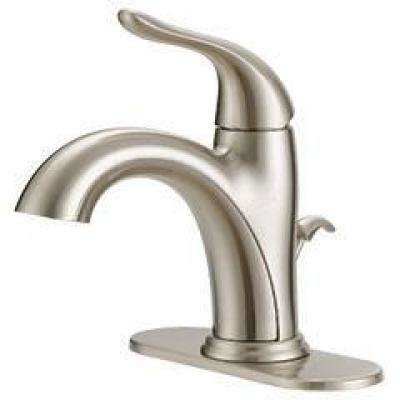 Impressions Collection 4 in. Centerset Single-Handle Bathroom Faucet with Pop-Up in Brushed Nickel