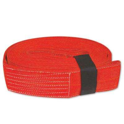 4 in. x 30 ft. x 20,000 lb. Tow and Lifting Strap with Hook and Loop Storage Fastener in Red