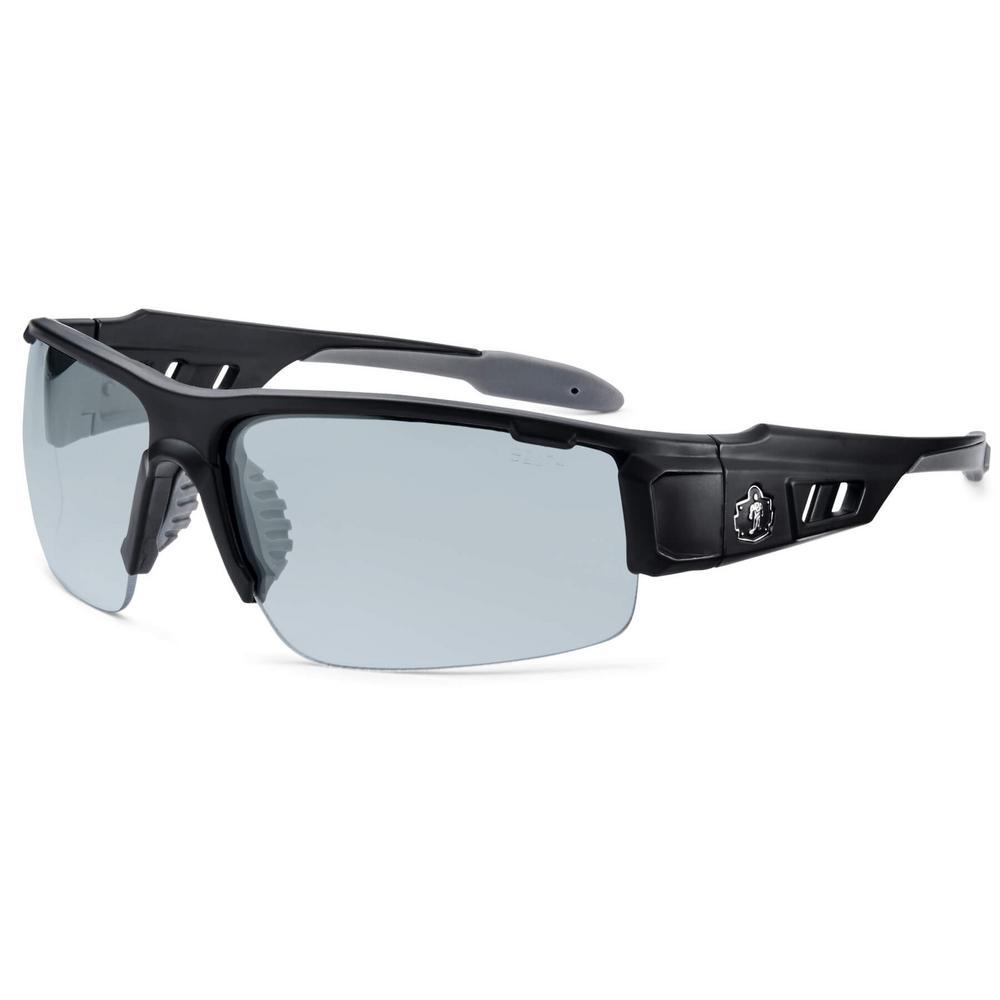 Skullerz Dagr Matte Black Anti-Fog Safety Glasses, In/Outdoor Lens - ANSI Certified