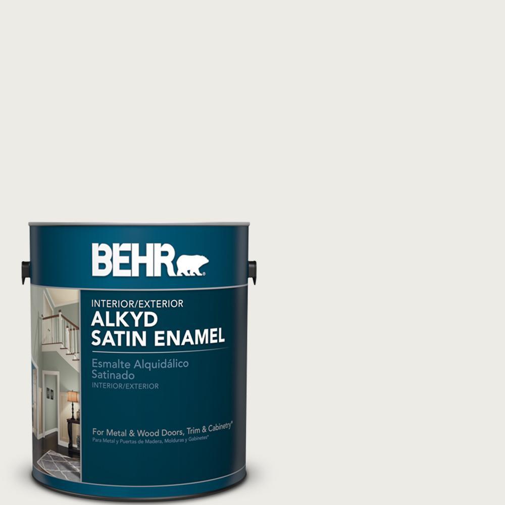 1 gal. White Alkyd Satin Enamel Interior/Exterior Paint