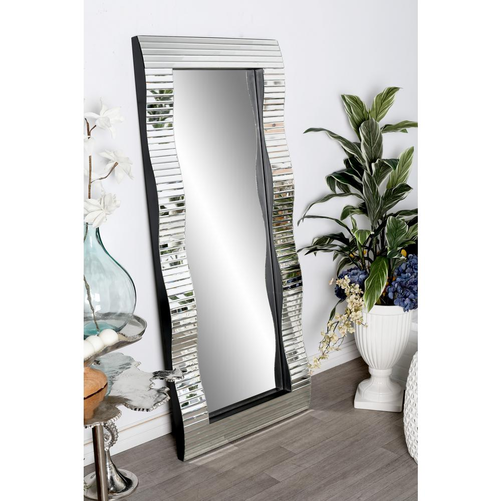Full Length Rectangular Silver Door Wall Mirror 59329