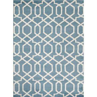 trellis blue 5 x 7 area rugs rugs the home depot