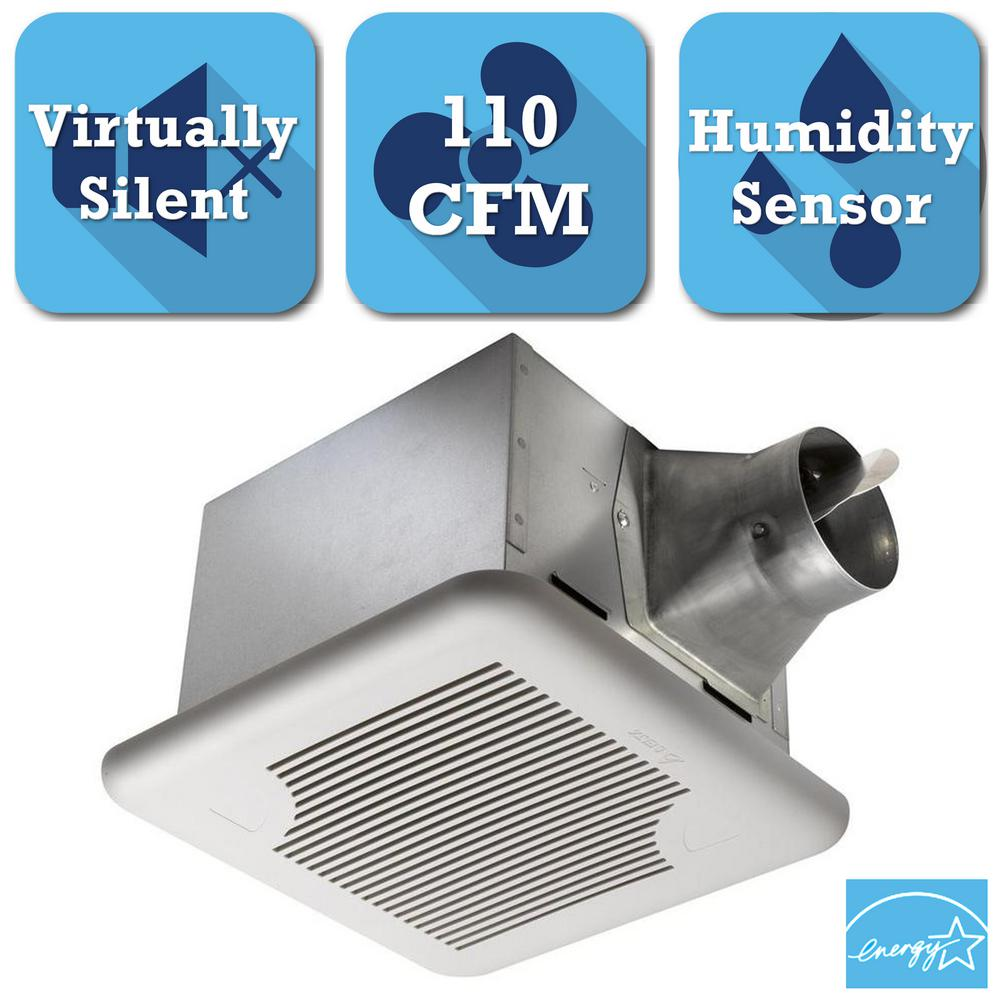 Delta Breez Signature Series 110 CFM Ceiling Exhaust Bath Fan with Adjustable Humidity Sensor and Speed Control