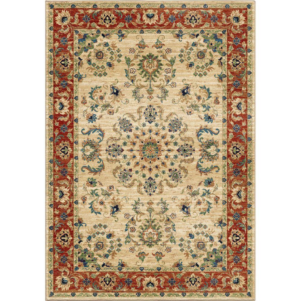 Orian Rugs Twisted Tradition Bone 5 Ft. 3 In. X 7 Ft. 6 In