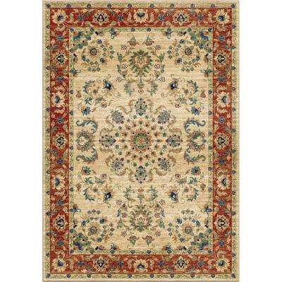 Twisted Tradition Bone 8 ft. x 11 ft. Indoor Area Rug