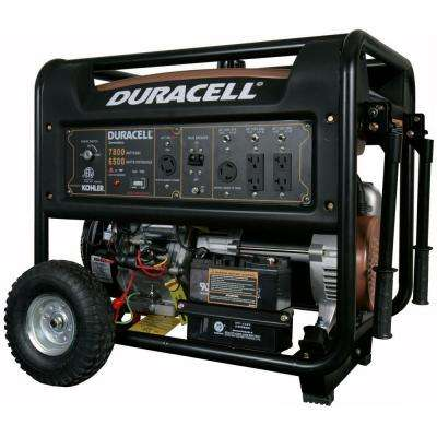 7800-Watt Gasoline Powered Electric Start Portable Generator with 1 Kohler Engine and Recoil Backup