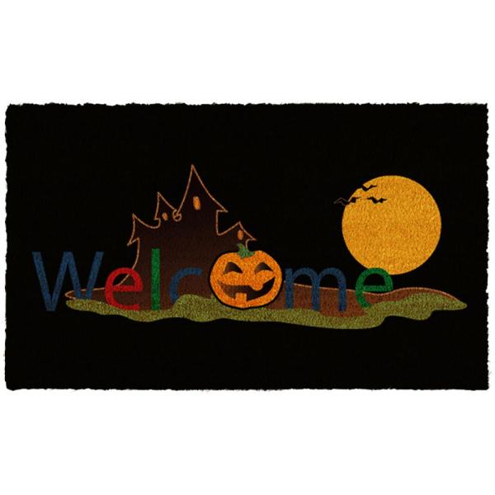 Halloween Welcome 17 in. x 29 in. Coir Door Mat