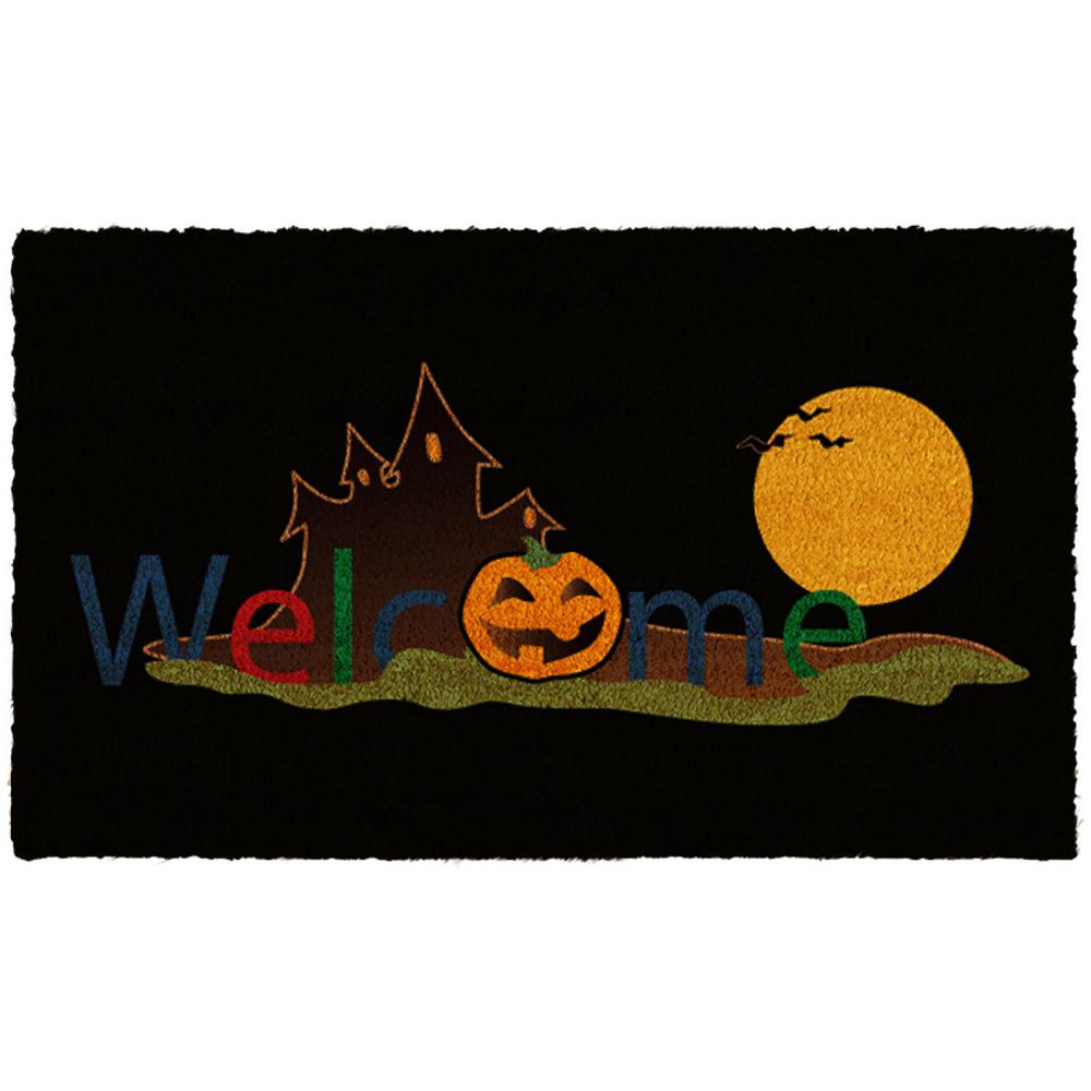 Halloween Welcome 17 in. x 29 in. Coir Door Mat