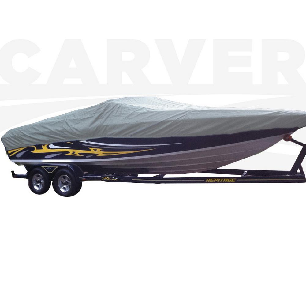 Styled-To-Fit Boat Cover For Ski Boats with Low Profile Windshield, Centerline