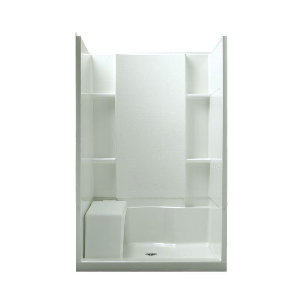 STERLING Accord Seated 36 in. x 48 in. x 74-1/2 in. Shower Kit in ...
