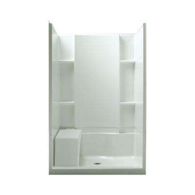 Accord Seated 36 in. x 48 in. x 74-1/2 in. Shower Kit in White