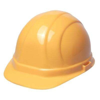 Omega II 6-Point Nylon Suspension Slide-Lock Yellow Cap Hard Hat