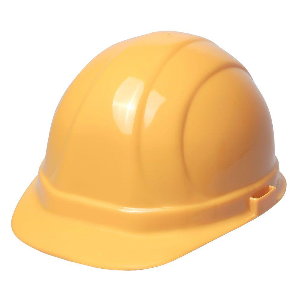 ERB Omega II 6 Point Suspension Nylon Mega Ratchet Cap Hard Hat in Yellow