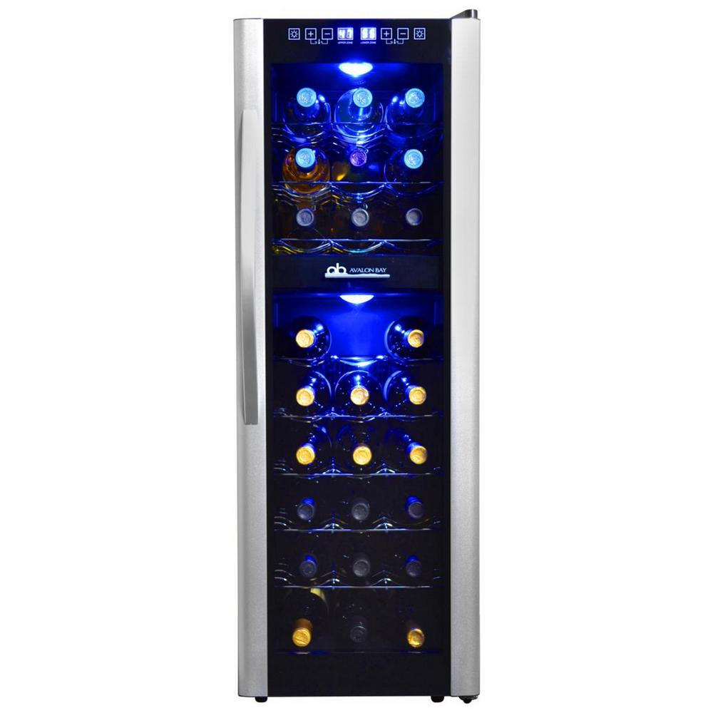 Avalon Bay Dual Zone 13.6 in. 27-Bottle Freestanding Wine Cooler