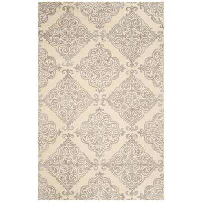 Glamour Ivory/Silver 5 ft. x 8 ft. Area Rug
