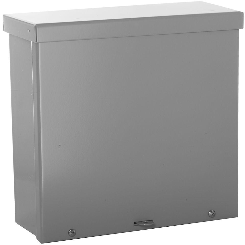 WIEGMANN NEMA 3R Weatherproof Screw Cover Wall-Mount Carbon Steel 10X10X4