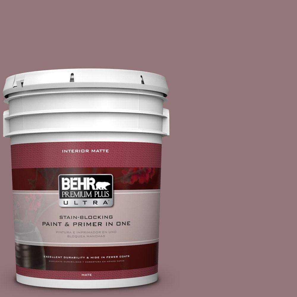 BEHR Premium Plus Ultra 5 gal. #N120-5 Plumville Matte Interior Paint