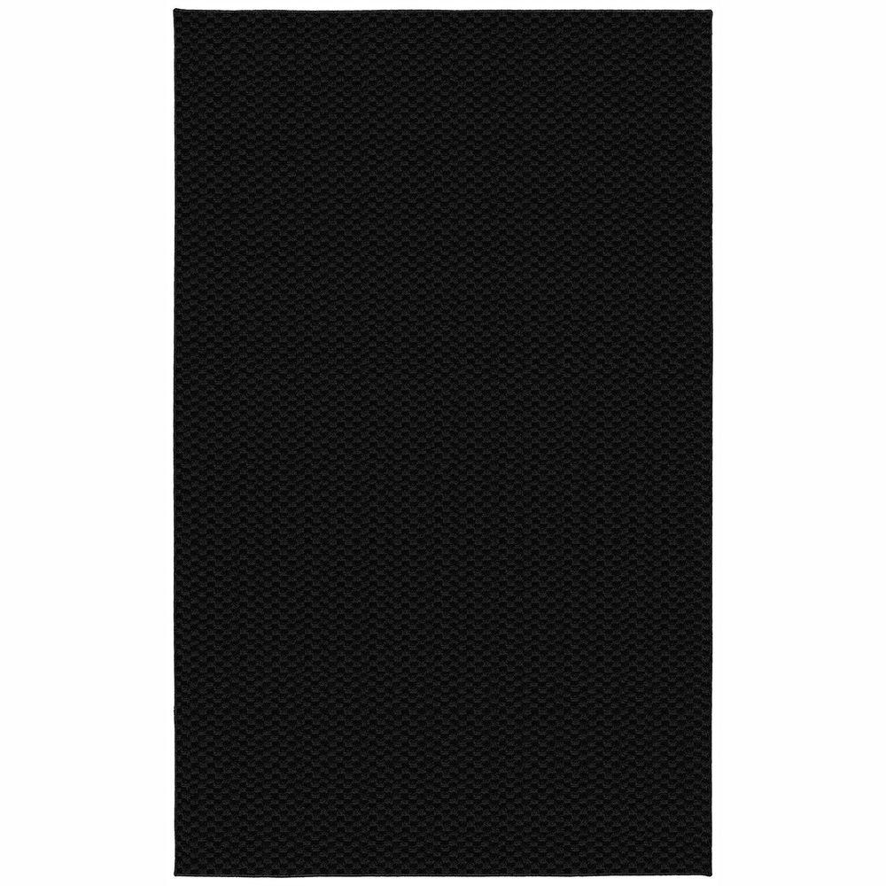 Garland Rug Medallion Black 6 ft. x 9 ft. Area Rug