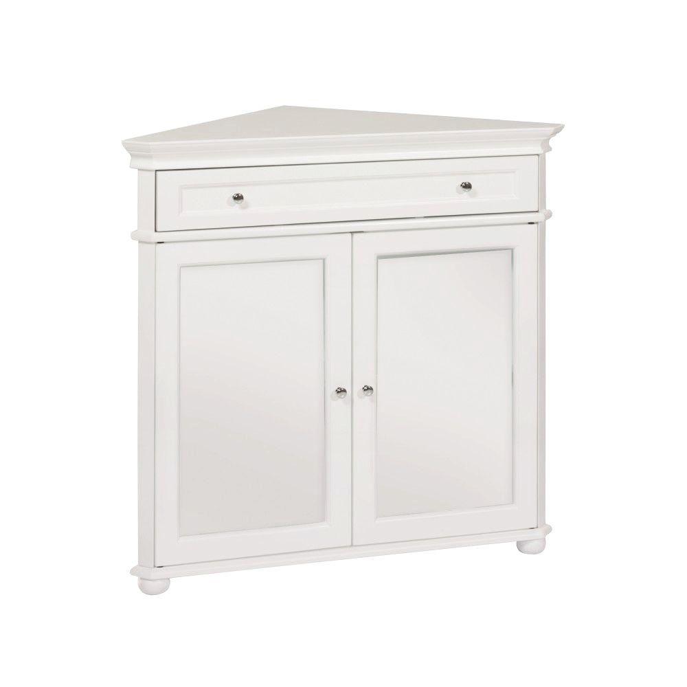 Hampton Harbor White Storage Cabinet