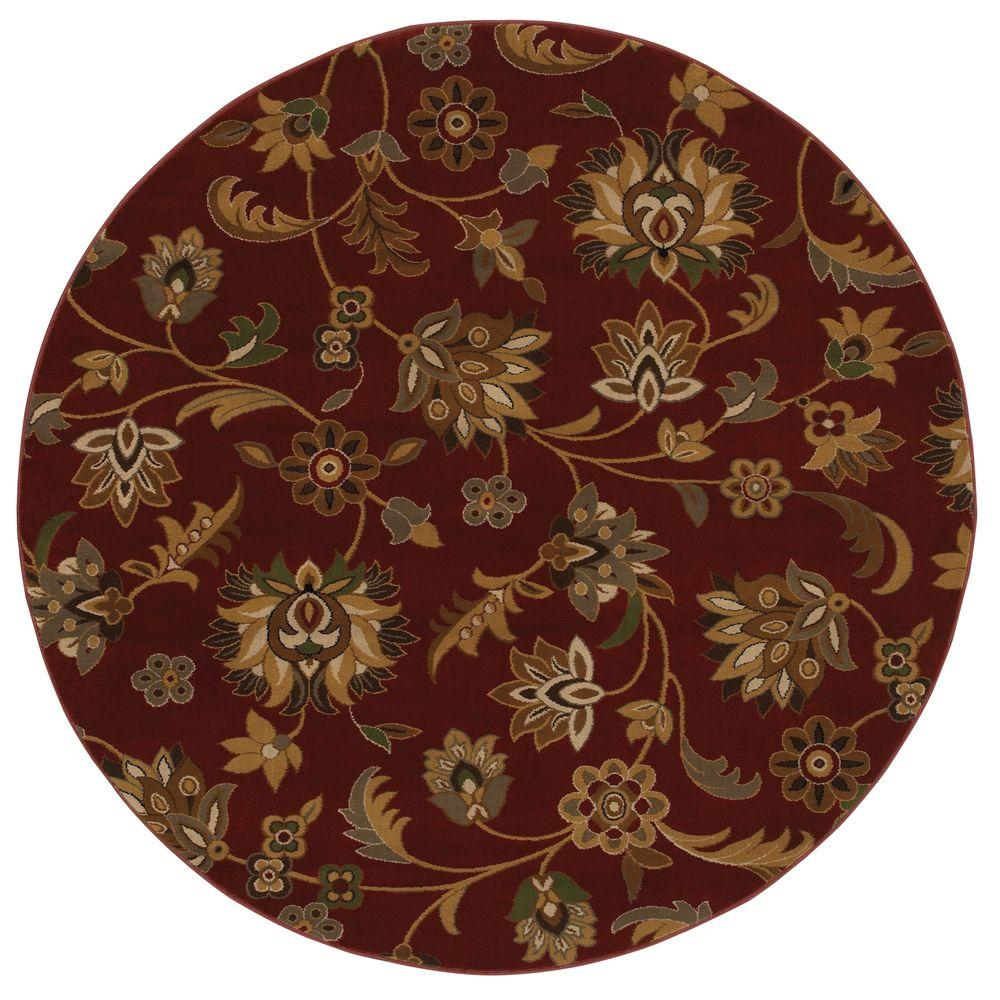 Mohawk Concord Ruby 8 ft. Round Area Rug-DISCONTINUED