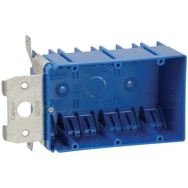 3-Gang 49 cu. in. PVC Adjustable Electrical Box