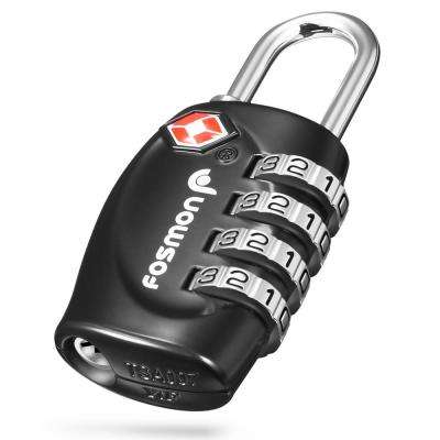 Set-Your-Own Combination Luggage Padlock with 4-Digit Dial in Black