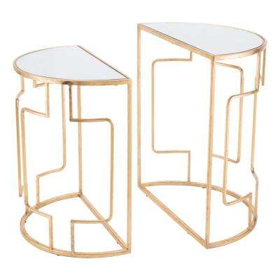 Roma Gold Side Tables (Set of 2)