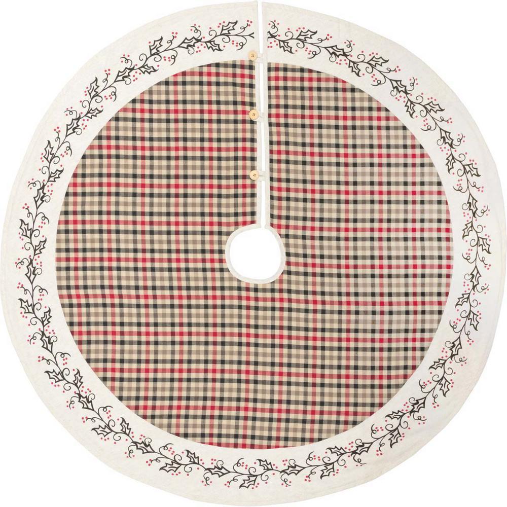 48 in. Hollis Ivory White Farmhouse Christmas Decor Tree Skirt