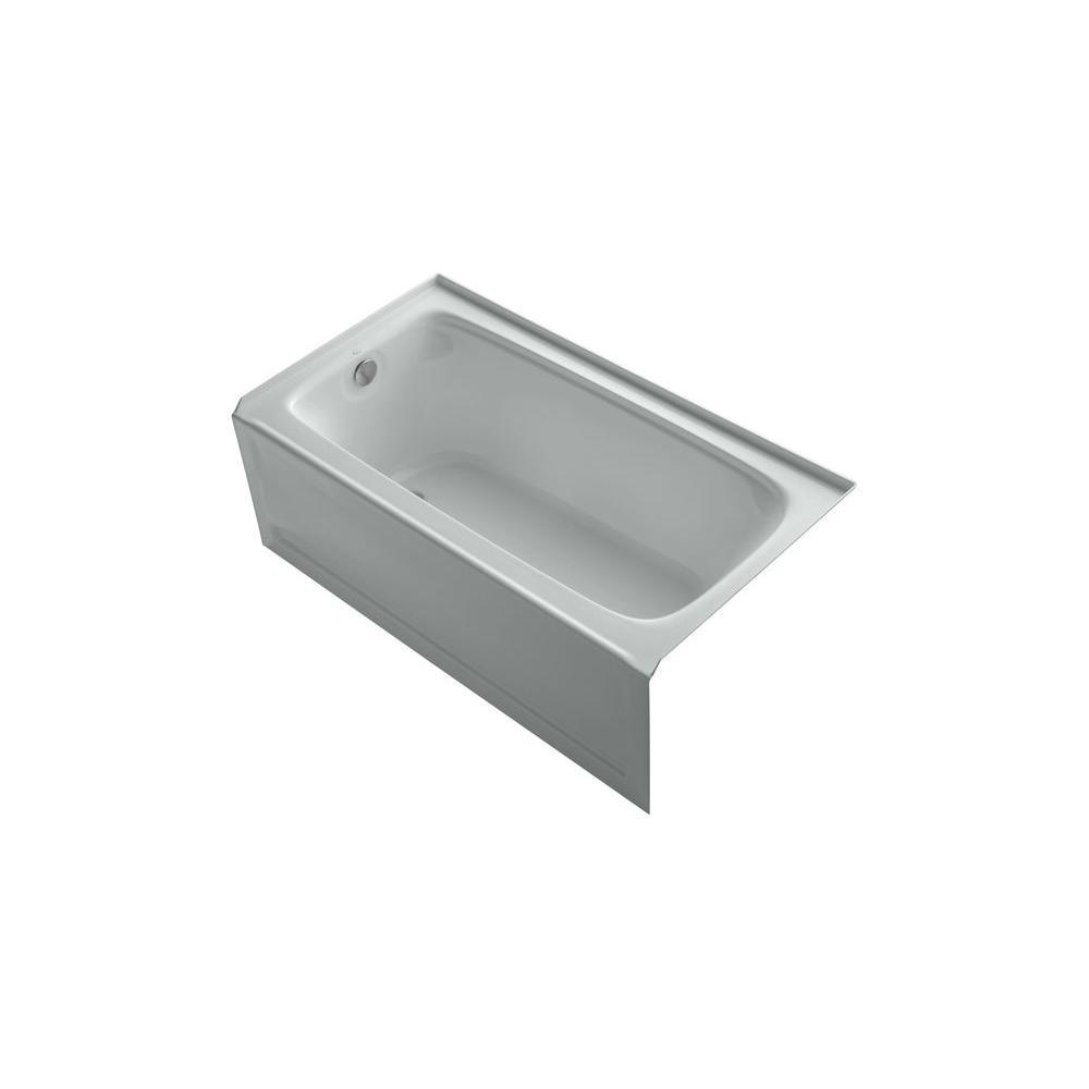 KOHLER Bancroft VibrAcoustic 5 ft. Left Drain Soaking Tub in Ice Grey-DISCONTINUED