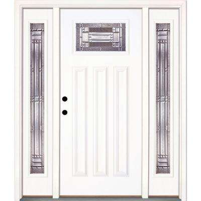 Fiberglass Farmhouse 3 Panel Front Doors Exterior Doors The Home Depot