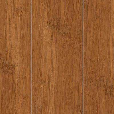 Take Home Sample - Hand Scraped Strand Woven Autumn Bamboo Flooring - 5 in. x 7 in.