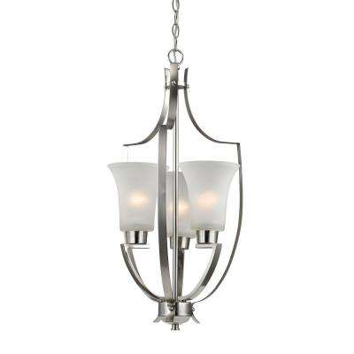Foyer Collection 3-Light Brushed Nickel Pendant