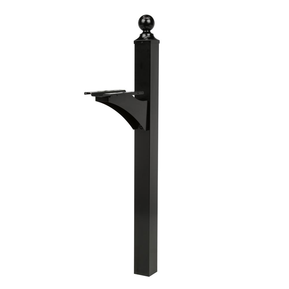 Landover Decorative Aluminum Mailbox Post in Black