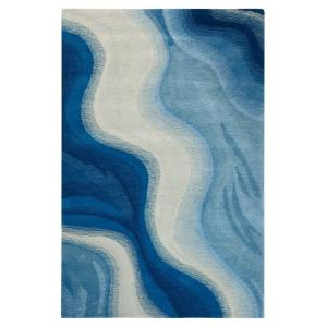Home Decorators Collection Rush Blue 5 ft 9 in Round Area Rug