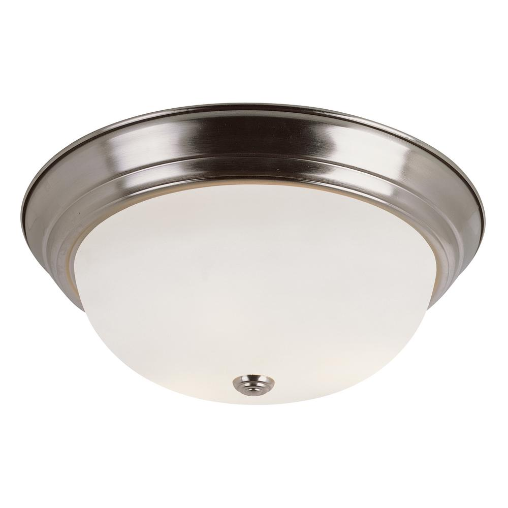 Bowers 2-Light Brushed Nickel Flushmount