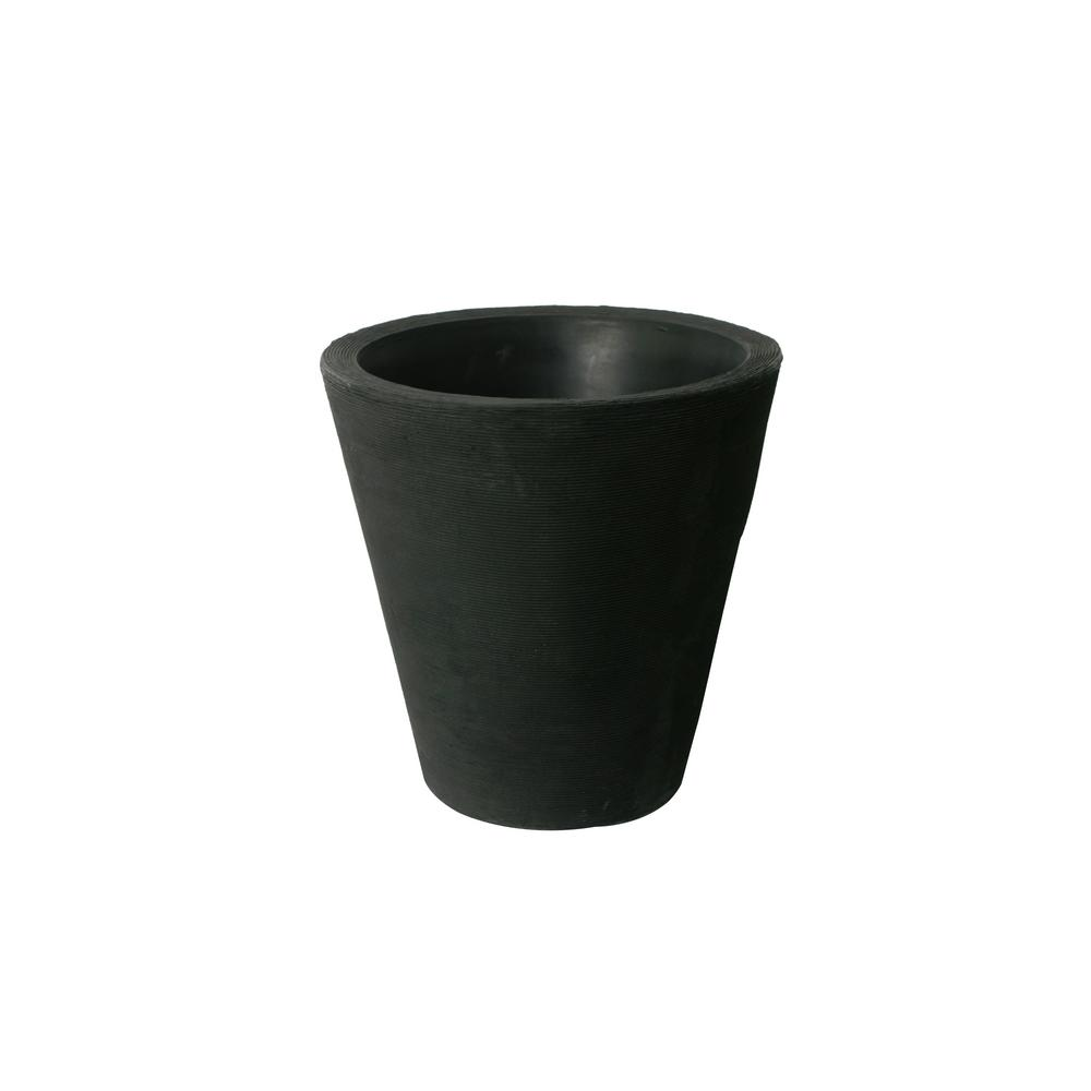 Olympus 21 in. H x 20 in. Self-Watering Black Plastic Planter