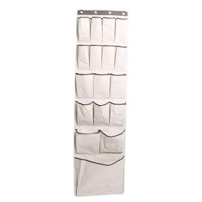 17-Compartment Fabric Over-the-Door Hanging Organizer