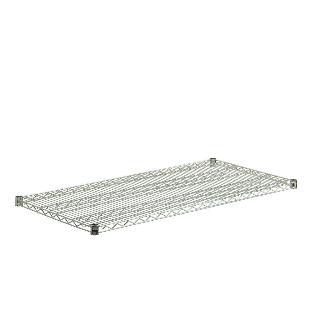 18 in. x 48 in. Steel Shelf in Chrome