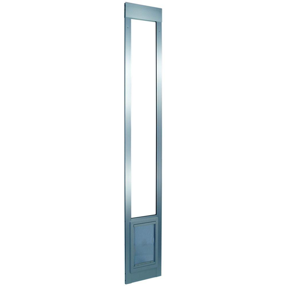 Super Large Mill Aluminum Pet Patio Door Fits 77.6 in. to 80.4 in. Standard  Alum Slider - Ideal Pet 15 In. X 20 In. Super Large Mill Aluminum Pet Patio Door