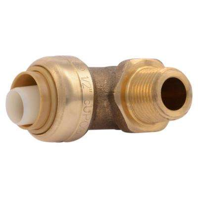 1/2 in. x 3/8 in. Brass 90-Degree Push-to-Connect x MNPT Dishwasher Elbow