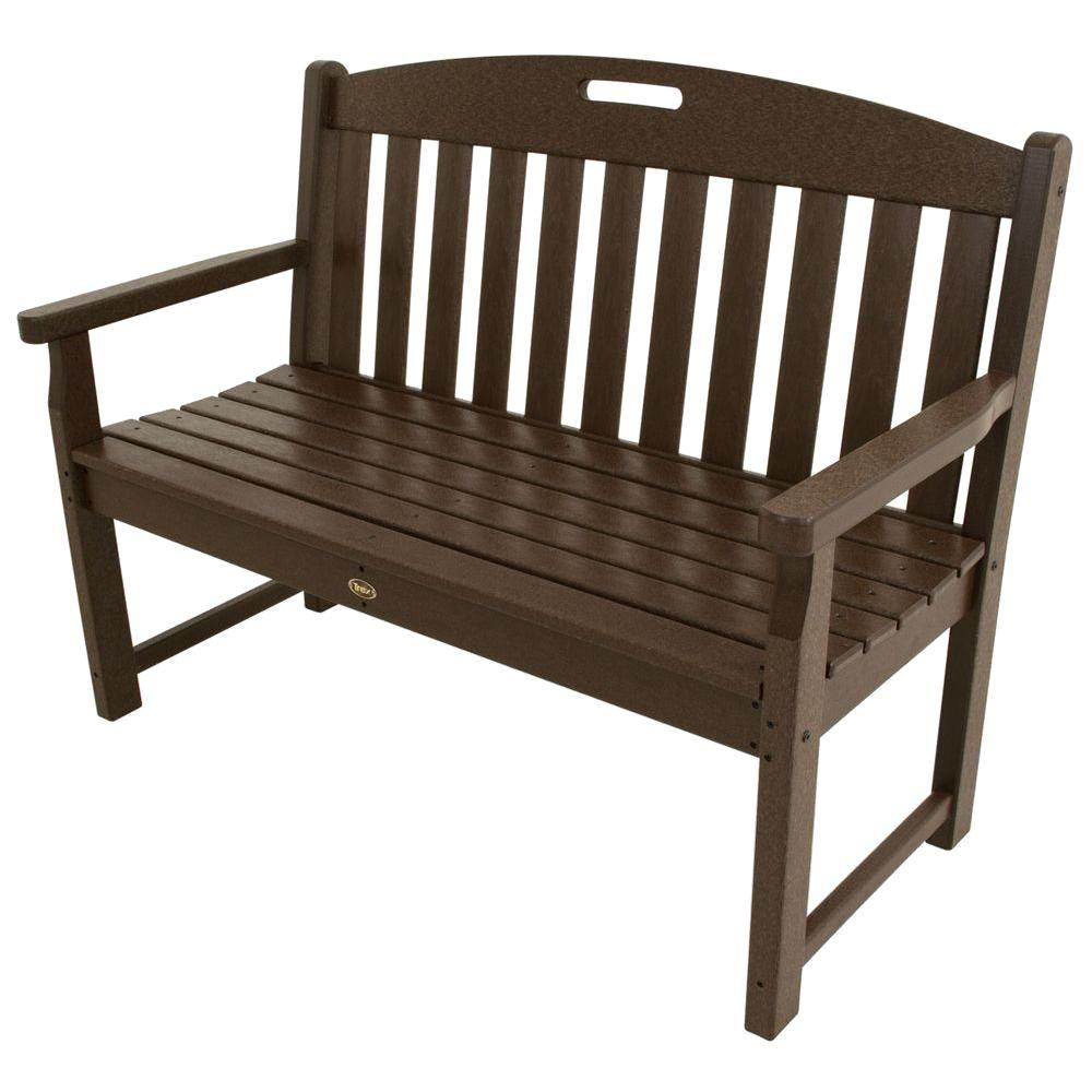 Trex Outdoor Furniture Yacht Club 48 In Vintage Lantern Patio Bench Txb48vl The Home Depot