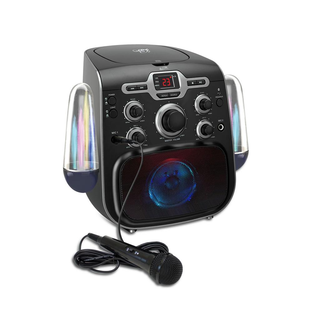 ILIVE Bluetooth Karaoke Machine with LED Water Show, Black