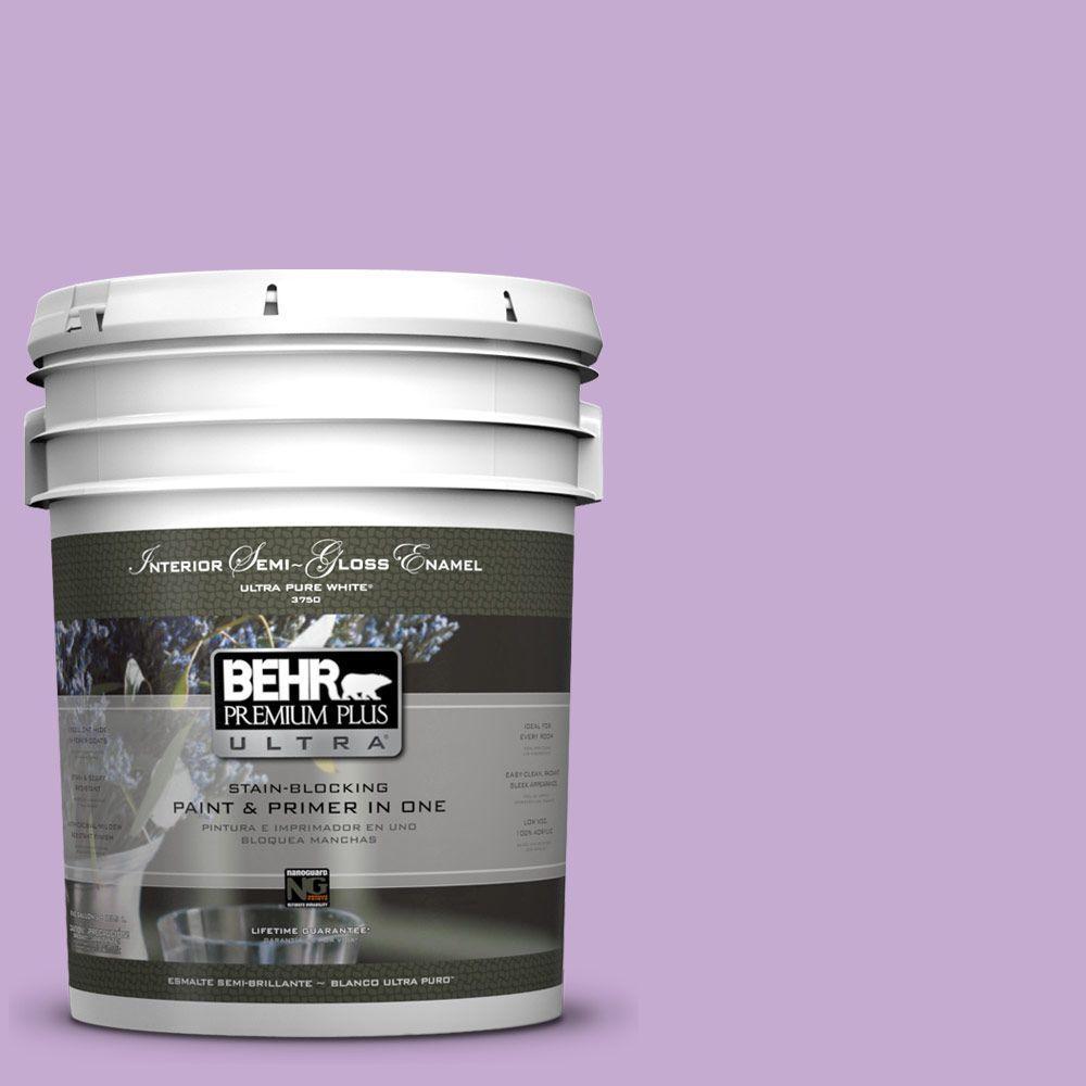 BEHR Premium Plus Ultra 5-gal. #660B-4 Pale Orchid Semi-Gloss Enamel Interior Paint