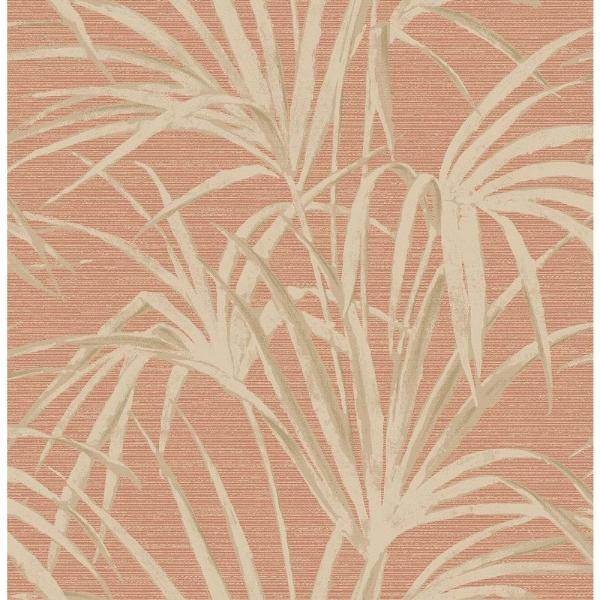Brewster Reed Red Palm Wallpaper Sample 2686-21718SAM