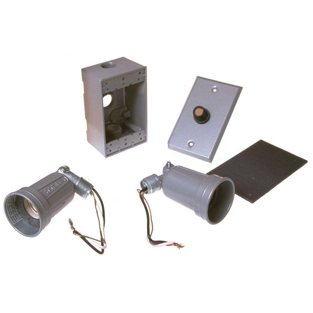 1 Gang Weatherproof Photocell Par Lampholder Kit