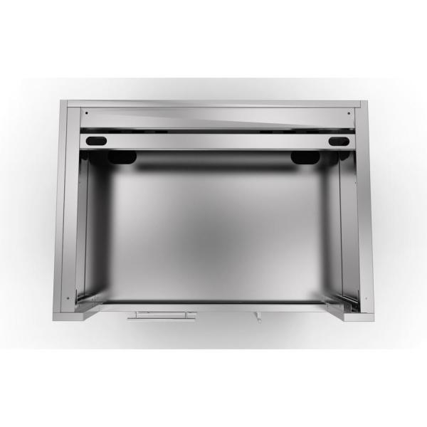 Sunstone Designer Series 304 Stainless Steel 40 In X 34 5 In X 28 25 In Drop In Gas Grill Base Cabinet Sac40glpcd The Home Depot